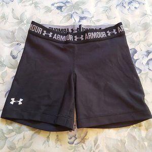 Under Armour Women's HeatGear Middy/Shorts – Black
